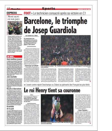 Barcelone, le triomphe de Joseph Guardiola