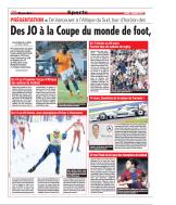 Des JO à la coupe du monde de foot