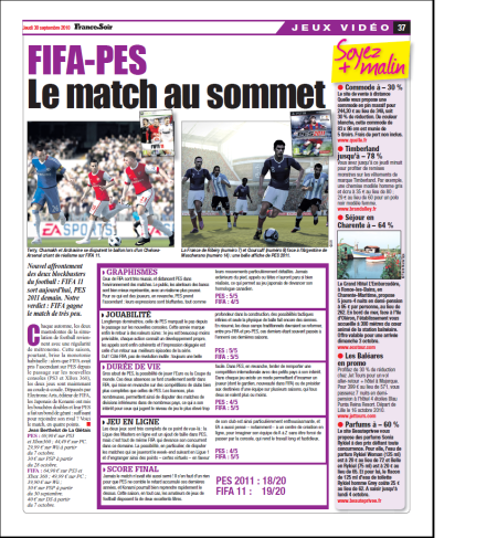 FIFA-PES le match au sommet