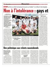 Gays et foot, le tabou