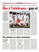 Gays et foot, le tabou