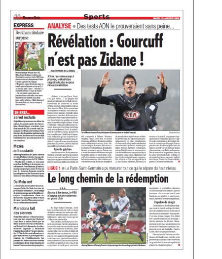 Gourcuff n'est pas Zidane