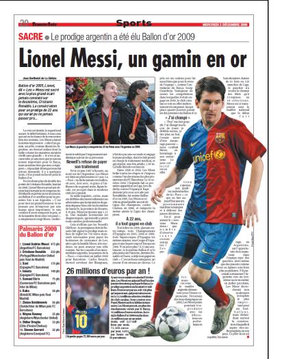 Lionel Messi, un gamin en or